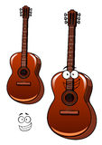 Classical acoustic guitar cartoon character Royalty Free Stock Images