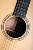 Classical acoustic guitar closeup Stock Photography