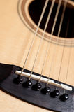 Classical acoustic guitar closeup Stock Photo