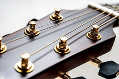 Classical acoustic guitar closeup Stock Photos