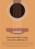 Classical acoustic guitar. Musical string instrument collection. Vector illustration eps 8 in flat style. For your design and business Royalty Free Stock Photography