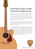 Classical acoustic guitar. royalty free illustration