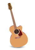 Classical acoustic guitar. vector illustration