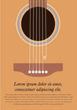 Classical acoustic guitar. stock illustration