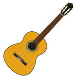 Classical acoustic guitar.. Guitar classical, traditional shapes and colors Royalty Free Stock Photo
