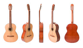Classical acoustic guitars set Stock Images