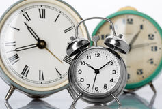 Classical alarm clocks Stock Photos