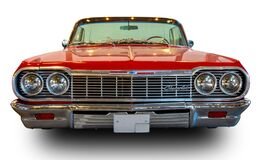 Free Classical American Vintage Car Chevrolet Impala 1964. Front View. White Background Stock Images - 183720064