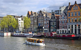 Classical Amsterdam View Stock Image