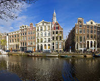 Classical Amsterdam view. Royalty Free Stock Photo