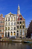 Classical Amsterdam view. Stock Image