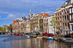 Classical Amsterdam view. Stock Images