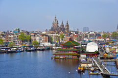Classical Amsterdam view Stock Images
