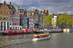 Classical Amsterdam view Royalty Free Stock Photo