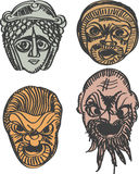 Classical ancient Greek drama masks Stock Photos