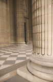 Classical antic architecture. Classical antic columns at the front of the pantheon in Paris Royalty Free Stock Photography