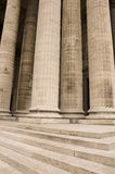 Classical antic architecture. Classical antic columns at the front of the pantheon in Paris Royalty Free Stock Photo