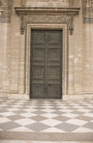 Classical antic door - closed Stock Photo