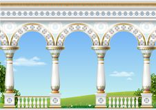Classical arch of the eastern palace vector illustration