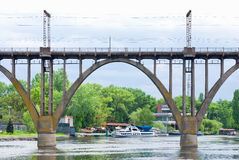 Classical arched bridge Stock Images