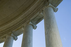 Classical architecture. Capitals and columns Jefferson Memorial, Washington, DC royalty free stock image