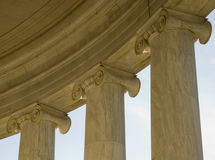 Classical architecture. Capitals and columns Jefferson Memorial, Washington, DC royalty free stock photos