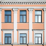 Classical architecture background with columns. And windows Stock Photos