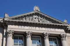 Classical Architecture Colonial, Pro Aris Et Focis Stock Photos