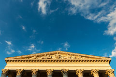 Classical architecture of the Hungarian National Museum in Budap Royalty Free Stock Image