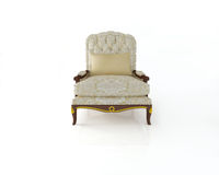 Classical armchair 3D computer rendering on white Stock Photos