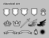 Classical Art. Classical Elements For Coat Of Arms Stock Photo