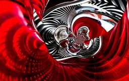 Classical automobile sport car back lights spiral abstract effect texture pattern background. Car lights futuristic background. Re Royalty Free Stock Photos