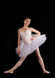 Classical ballerina in a white skirt Royalty Free Stock Photography