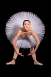 Classical ballerina in a white skirt Stock Photo
