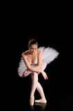 Classical ballerina in a white skirt Royalty Free Stock Photos