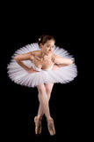 Classical ballerina in a white skirt Royalty Free Stock Image