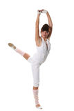 Classical ballet. The young woman in a classical ballet pose Royalty Free Stock Images