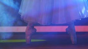 Classical Ballet Ballerina On Pointe stock video
