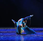 Classical ballet-The dance drama The legend of the Condor Heroes. In December 2, 2014, a large Chinese dance drama the legend of the Condor Heroes for the first Stock Photography