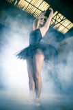 Classical, Ballet dancer in an industry area, sensual blonde wom Stock Image