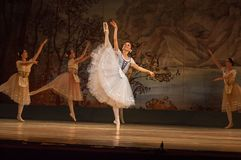 Classical ballet Giselle. DNIPRO, UKRAINE - NOVEMBER 3, 2018: Classical ballet Giselle by Adolphe Adam performed by members of the Dnipro Opera and Ballet royalty free stock photos