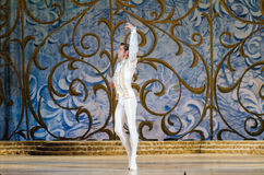 Classical ballet Sleeping beauty. DNIPRO, UKRAINE - JUNE 3, 2017: Classical ballet Sleeping beauty performed by members of the Dnipro Opera and Ballet Theatre Royalty Free Stock Photos