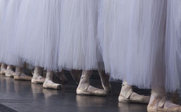 Classical ballet. Is a traditional, formal style of ballet that adheres to  technique Royalty Free Stock Image