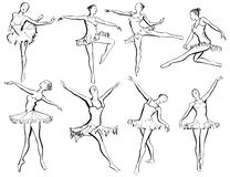 Classical ballet woman-dancers royalty free illustration