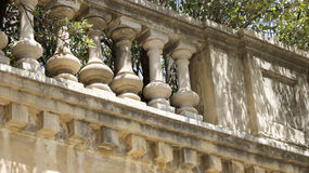 Classical baluster element. Elements of a classical baluster in a summer park royalty free stock images