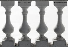 Classical balusters fragment Royalty Free Stock Photos