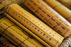 Classical bamboo books Royalty Free Stock Image