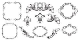 Vector baroque of vintage elements for design. Classical baroque vector set of vintage elements for design. Decorative design element filigree calligraphy vector illustration