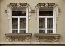 Classical baroque window in Prague, Czech Republic Royalty Free Stock Images