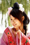 Classical beauty in China. stock image